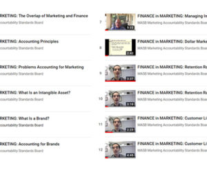 The FINANCE in MARKETING Video Library – Another Free Educational Resource from MASB