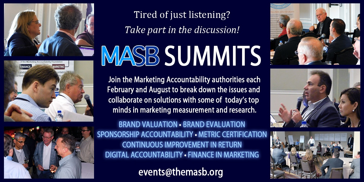 MASB Marketing Accountability Summits